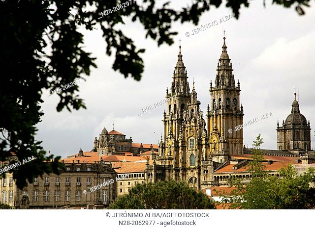 Cathedral, World Heritage Site, Way of St James, Santiago de Compostela, A Coruña province, Galicia, Spain