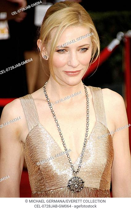 Cate Blanchett (wearing an Armani dress) at arrivals for 13th Annual Screen Actors Guild SAG Awards - ARRIVALS, The Shrine Auditorium, Los Angeles, CA