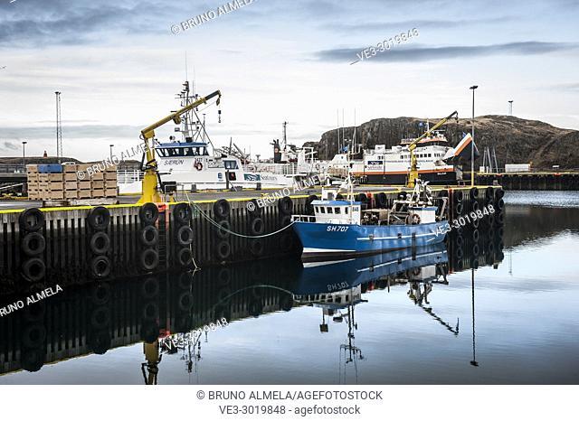 Fishing boat in Stykkishólmur harbor, Snæfellsnes peninsula (region of Vesturland, Iceland)