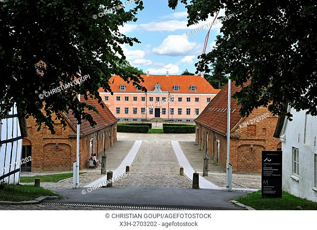 Moesgaard Manor, historical building housing the museum administration and Aarhus University offices and student facilities