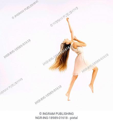 Slim and talented ballet dancer