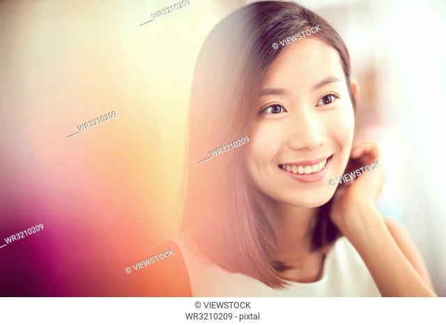 Young beauty makeup face