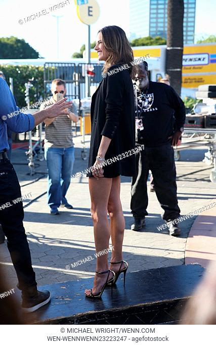 Alessandra Ambrosio seen at Universal studios where she was interviewed by Mario Lopez for television show Extra Featuring: Alessandra Ambrosio Where: Los...