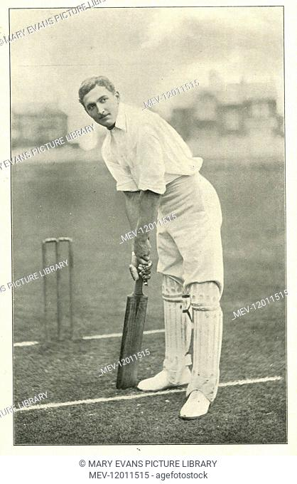 C.B. Fry cricketer and all-round sportsman circa 1897
