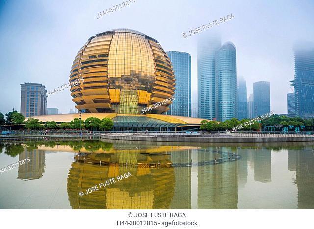 China, Zhejiang, Hangzhou City, Qianjiang New City, International Conference Bldg