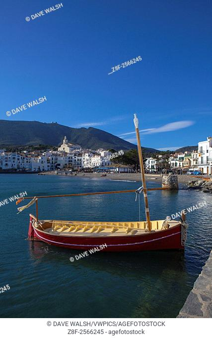 The seafront in Cadaques, Catalonia, Spain