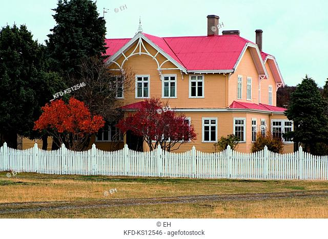 Chile, Hacienda Río Penitente , old cattle ranch located 137 kms north to the road of Punta Arenas built by Scottish pioneers in 1891