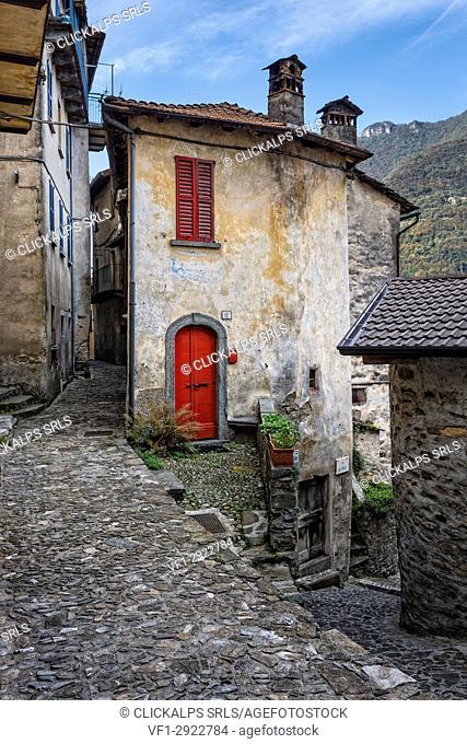 Village of Careno, lake Como, Como province, Lombardy, Italy, Europe