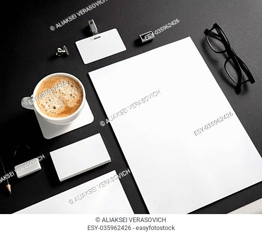 Branding stationery mockup. Blank objects for placing your design