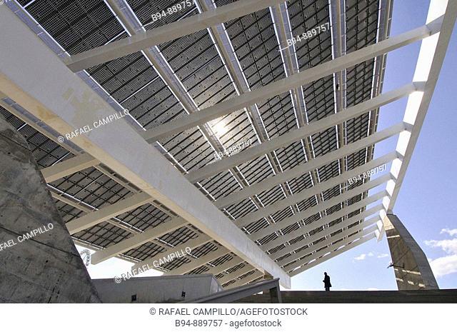 Photovoltaic pergola, Forum 2004, Diagonal Mar area, Barcelona. Catalonia, Spain