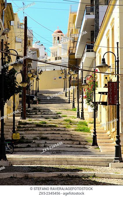Street view of Sitia - Crete, Greece