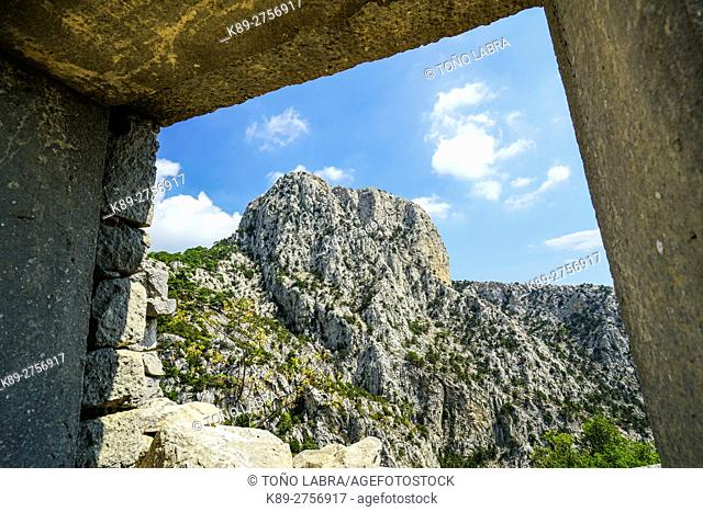 Mount Solymos from Termessos. The unexcavated Pisidian city. Ancient Greece. Asia Minor. Turkey