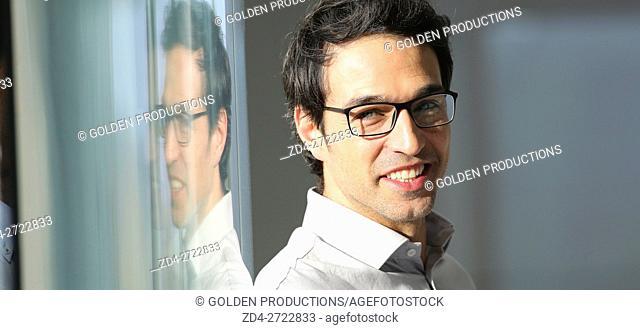 Portrait of executive man smiling