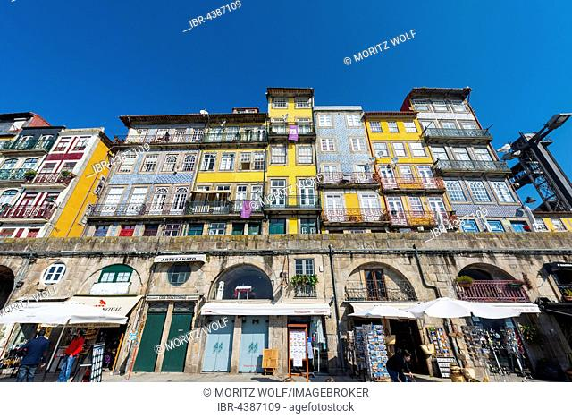 Colourful houses, Porto, Portugal