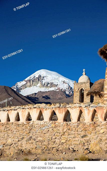 Church in the Sajama National Park, Bolivia