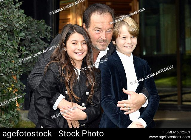Sebastiano Somma, Crystal Deglaudi, Tancredi Testa during the photocall of tv fiction ' Come una madre ' (Like a mother) Rome, ITALY-16-01-2020