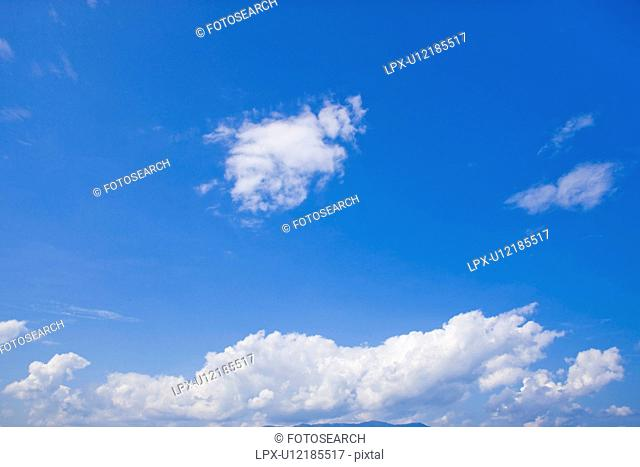 A Blue Sky and Clouds