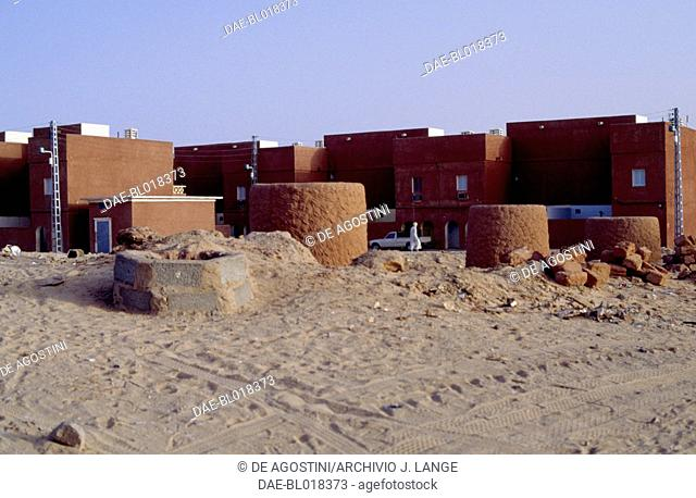 Foggara or qanat (water transport system for human use and irrigation) on the outskirts of Adrar, Algeria
