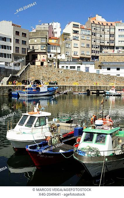 Malpica de Bergantiños, a fishing village in the coast of Galicia. Spain