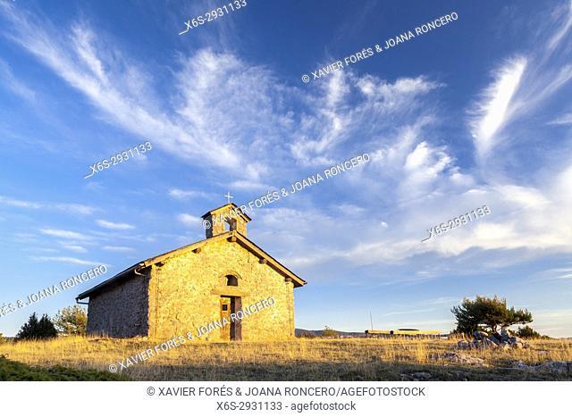 Espla hermitage in Serra de Boumort, Lleida, Spain