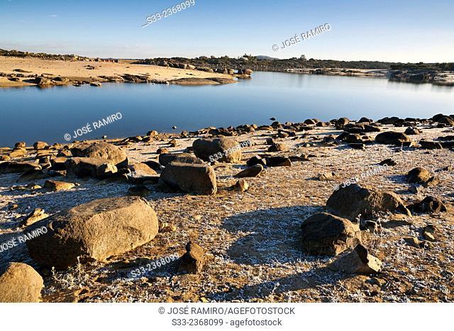 Torcón reservoir in Navahermosa. Toledo. Castilla la Mancha. Spain. Europe