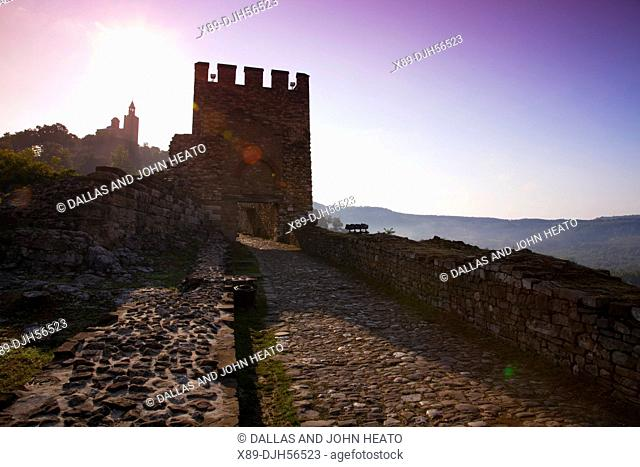 Bulgaria, Europe, Veliko Tarnovo, Fortress of Tsarevets, Main Gate, Church of the Blessed Saviour, Sunrise
