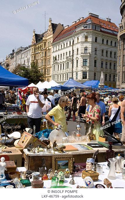 Saturday flea market, Naschmarkt, Vienna, Austria