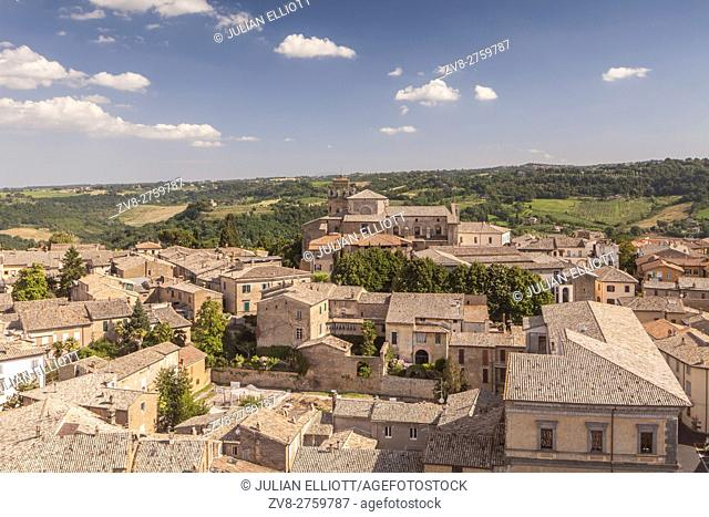 The hilltop town of Orvieto, Umbria
