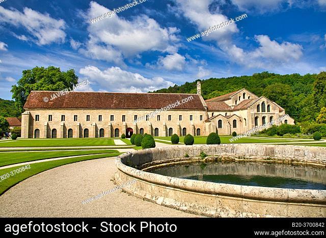Abbaye Royale de Notre Dame de Fontenay, Fontenay Cistercian Abbey, Montbard, Cote d'Or, Burgundy Region, Bourgogne, France, Europe