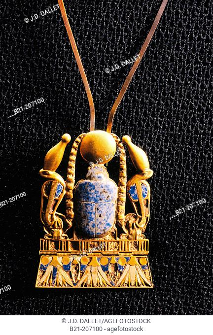 Pectoral scarab with sun. Egyptian Museum. Egypt