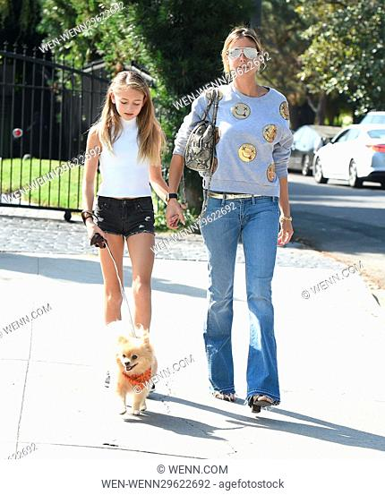 Heidi Klum and her daughter Leni spend the afternoon together in Los Angeles, California. Featuring: Heidi Klum, Leni Where: Los Angeles, California
