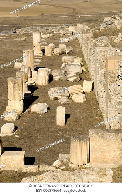 Ruins of the Celtiberian and Roman town of Segobriga, archaeological site, II century, Saelices, province of Cuenca, Castilla La Mancha, Spain