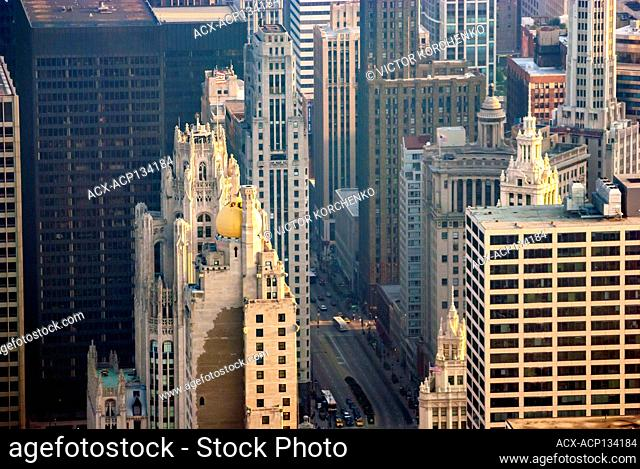 Tribune Tower, a Gothic Revival building in Chicago, IL