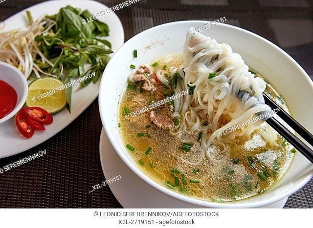 Vietnamese Pho (Beef Noodle Soup). Hoi An, Quang Nam Province, Vietnam