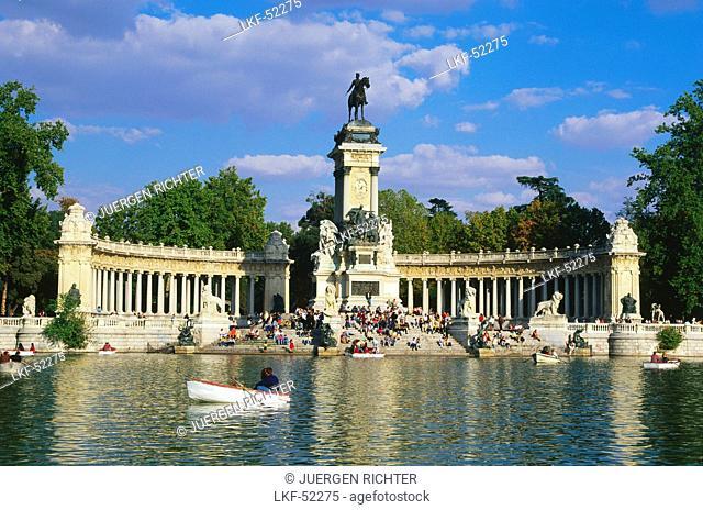 Monument for Alfonso XII., Retiro Park, Madrid, Spain