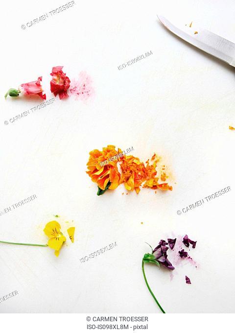 Chopped edible flowers