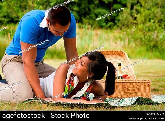 Sweet picnic couple