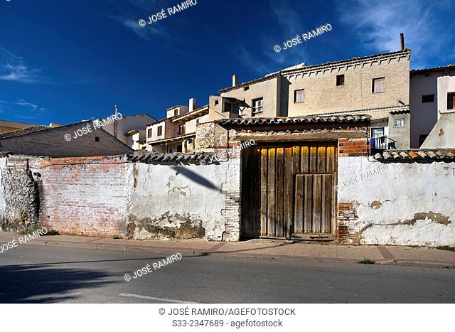 Big door in Peñafiel. Valladolid. Castilla León. Spain