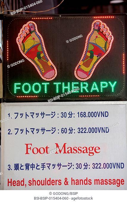Foot massage. Ho Chi Minh City. Vietnam