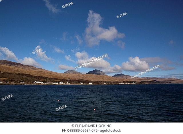 The Village of Craighouse and the Paps of Jura, view from the Jura pier