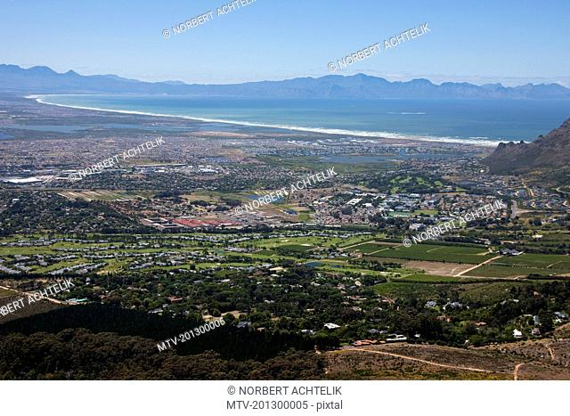 Aerial view of city, Hout Bay, Cape Town, Western Cape Province, South Africa