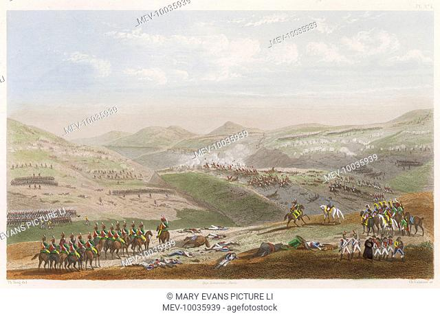 PENINSULA CAMPAIGN Battle of SOMO-SIERRA Napoleon directs a cavalry charge against a Spanish battery protecting the road to Madrid