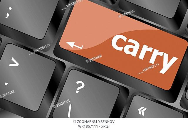 carry button on computer pc keyboard key