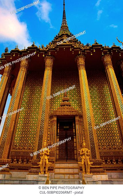 Ornate carved temple with columns