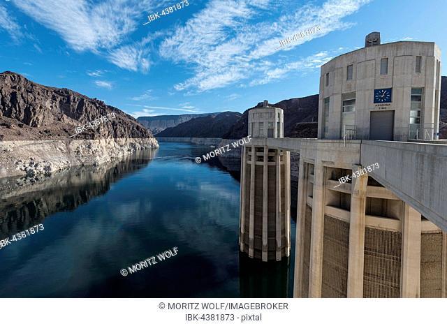 Hoover Dam, Lake Mead Recreation Area, Arizona, Nevada, USA