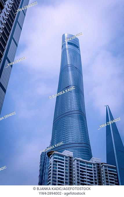 Shanghai Tower, the world's tallest building, a skyscraper located in the Pudong district, Shanghai, China