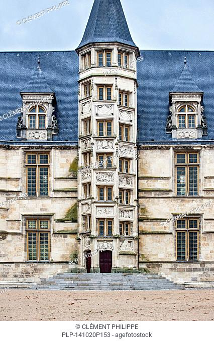 Middle tower containing the great staircase of the Palais Ducal, Nevers, Burgundy, France