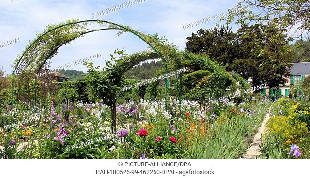 GIVERNY, FRANCE, May 16, 2018-Claude Monet is known for his paintings, his home and his garden in Giverny, France. Small groups are able to tour the property...