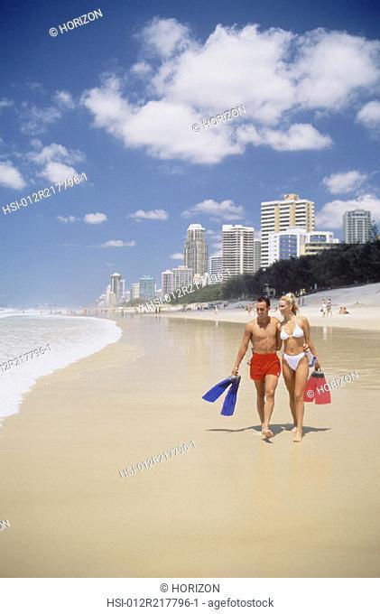 Couple, Beach, Swimwear, Australia