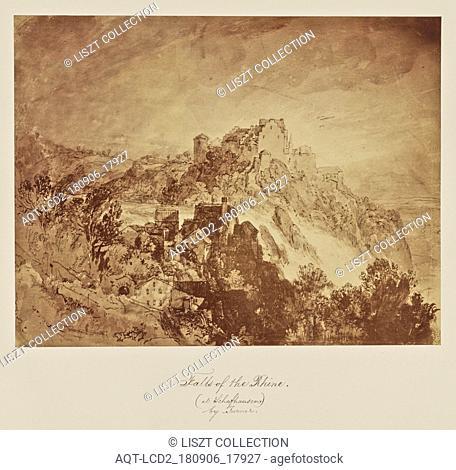 Falls of the Rhine. (at Schafhausen.) by Turner; Caroline Bertolacci (British, born 1825, active 1860s - 1890); about 1863; Albumen silver print
